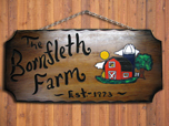 real wood sign barn design