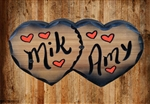 real wood sign heart shaped specialty