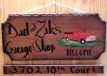 real wood sign truck design