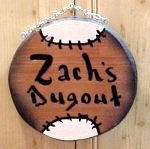 real wood sign baseball shaped